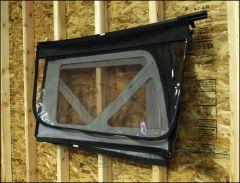 """TeraFlex Soft Top Window Holder To Mount On 16"""" or 24"""" Centered Wall Studs For 2007-18 Jeep Wrangler JK 2 Door & Unlimited 4 Door Models 1830602"""