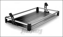 TeraFlex Rear Utility Cargo Rack In Silver For 2007-18 Jeep Wrangler JK Unlimited 4 Door Models 4820000