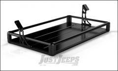 TeraFlex Rear Utility Cargo Rack In Black For 2007-18 Jeep Wrangler JK Unlimited 4 Door Models 4820020