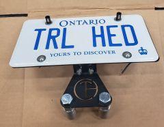 Trail Head Customs License Plate Relocation Kit For 2018+ Jeep Wrangler JL 2 Door & Unlimited 4 Door Models JL-RPLATE