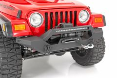 Rough Country Full Width Front LED Winch Bumper for 87-06 Jeep Wrangler YJ, TJ 10595