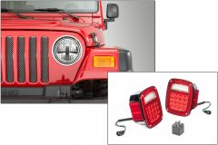 Quadratec Gen II Stealth LED Headlights & LED Tail Light Kit Stealth for 97-06 Jeep Wrangler TJ 97109TJST-