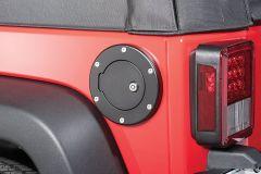 Quadratec Billet Aluminum Fuel Door for 07-18 Jeep Wrangler JK, JKU 15006-