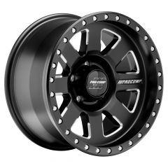 Pro Comp Series 74 Trilogy Pro 17x9 with 5x5 Bolt Pattern - Satin Black with Machined Edges PXA5174-7973
