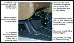 Tuffy Products Conceal Carry Passenger Underseat Security Drawer In Black For 2007-18 Jeep Wrangler JK 2 Door & Unlimited 4 Door Models 293-01
