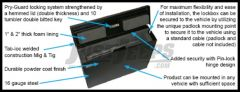 Tuffy Products Laptop Computer Security Lockbox In Black For Universal Applications 182-01