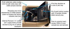 Tuffy Products Security Console Insert In Black For 2011-18 Jeep Wrangler JK 2 Door & Unlimited 4 Door Models 276-01