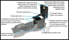 Tuffy Products Security Locking Console Insert In Medium Khaki For 2007-10 Jeep Wrangler JK 2 Door & Unlimited 4 Door Models 139-11
