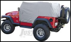 Vertically Driven Products Full Monty Cab Cover With Half Door Ears In Grey For 1992-06 Jeep Wrangler YJ & TJ 501161