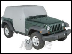 Vertically Driven Products Full Monty Cab Cover With Half Door Ears In Grey For 2007-18 Jeep Wrangler JK 2 Door Models 501162