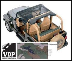 Vertically Driven Products KoolBreez Brief Top In Camouflage For 1997-06 Jeep Wrangler TJ & Unlimited 9702JKB-4