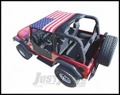 Vertically Driven Products KoolBreez Brief Top With American Flag For 1976-91 Jeep CJ-7 & Wrangler YJ 7691JKB-1