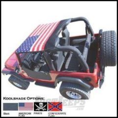Vertically Driven Products KoolBreez Brief Top With American Flag For 1992-95 Jeep Wrangler YJ 9295JKB-1