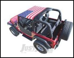 Vertically Driven Products KoolBreez Brief Top With American Flag For 1997-06 Jeep Wrangler TJ & Unlimited 9702JKB-1