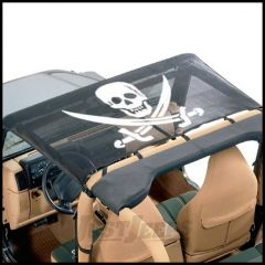 Vertically Driven Products KoolBreez Brief Top With Pirate Flag For 1992-95 Jeep Wrangler YJ 9295JKB-2