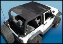 Vertically Driven Products KoolBreez Full Roll Bar Top In Black Mesh For 2007-09 Jeep Wrangler JK 2 Door 50712F
