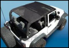 Vertically Driven Products KoolBreez Full Roll Bar Top In Black Mesh For 2010-18 Jeep Wrangler JK 2 Door Models 50713F