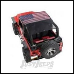 Vertically Driven Products KoolBreez Full Roll Bar Top With American Flag For 1997-06 Jeep Wrangler TJ 9702FJKB-1