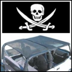 Vertically Driven Products KoolBreez Full Roll Bar Top With Pirate Flag For 1997-06 Jeep Wrangler TJ 9702FJKB-2