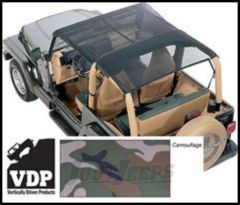 Vertically Driven Products KoolBreez Full Roll Bar Top In Camouflage For 1997-06 Jeep Wrangler TJ 9702FJKB-4