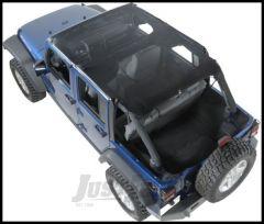 Vertically Driven Products KoolBreez Full Top In Black Mesh For 2007-09 Jeep Wrangler Unlimited JK 4 Door 50714