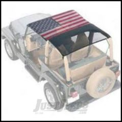 Vertically Driven Products KoolBreez Full Top With American Flag For 1992-95 Jeep Wrangler YJ 9295FJKB-1