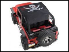 Vertically Driven Products KoolBreez Full Top With Pirate Flag For 1992-95 Jeep Wrangler YJ 9295FJKB-2