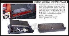 Vertically Driven Products Locking Hidden Storage Vault For 2007-18 Jeep Wrangler JK 2 Door & Unlimited 4 Door Models 32501