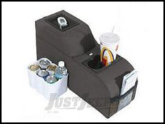Vertically Driven Products Padded Catch All Center Console Black Denim For 1976-95 Jeep CJ Series & Wrangler YJ 42015