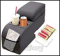 Vertically Driven Products Padded Center Console Black Denim For 1976-95 Jeep CJ Series & Wrangler YJ 32015