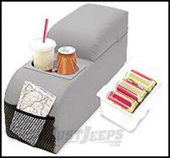 Vertically Driven Products Padded Center Console Grey For 1976-95 Jeep CJ Series & Wrangler YJ 32011