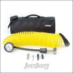 Viair 5-in-1 Inline Inflation/Deflation Coil Hose With 100 PSI Guage 00025