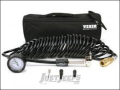 Viair 5-in-1 Inline Inflation/Deflation Coil Hose With 120 PSI Guage 00029