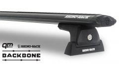 Rhino-Rack Vortex RLT600 Black 2 Bar Rhino-Rack Backbone Roof Rack For 2018+ Jeep Wrangler Unlimited JL JB0898