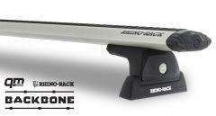 Rhino-Rack Vortex RLT600 Silver 2 Bar Rhino-Rack Backbone Roof Rack For 2011-18 Jeep Wrangler JK JA6381