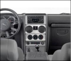 Warrior Products Dash Overlay For 2007-08 Jeep Wrangler JK Unlimited 4 Door Models 60403