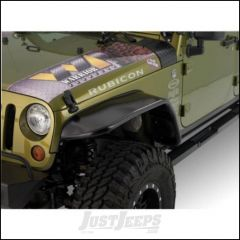 "Warrior Products 10"" Front Tube Fender Flares In Unfinished For 2007-18 Jeep Wrangler JK 2 Door & Unlimited 4 Door Models S7314-RAW"