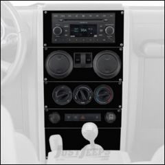 Warrior Products Dash Panel Overlay For 2007-08 Jeep Wrangler JK 2 Door Models S90401