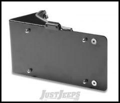 Warrior Products Side Mount License Plate Bracket with LED For 2007-18 Jeep Wrangler JK 2 Door & Unlimited 4 Door Models 1564