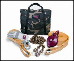 WARN Heavy-Duty Winching Accessory Kit with Camouflage Bag 29460