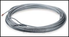 "WARN Winch Line Replacement Wire Rope 80ft. X  5/16"" Or 24m X 8mm Includes Loop Thimble 38310"
