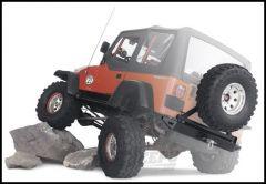 WARN Rock Crawler Rear Bumper & Tire Carrier For 1976-86 Jeep CJ Series 62947-63253