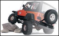 WARN Rock Crawler Rear Bumper & Tire Carrier For 1997-06 Jeep Wrangler TJ & TLJ Unlimited Models 65508-64337