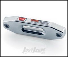 WARN Short Drum Hawse Fairlead In Polished Aluminum For Synthetic Rope 73852