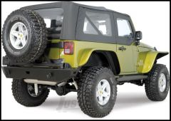 WARN Rock Crawler Rear Bumper & Tire Carrier For 2007-18 Jeep Wrangler JK 2 Door & Unlimited 4 Door 74300-74299