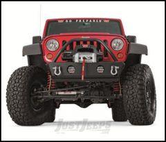 WARN Rock Crawler Stubby Front Bumper With Grille Guard For 2007-18 Jeep Wrangler JK 2 Door & Unlimited 4 Door 87600