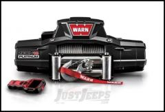 WARN ZEON 12 Platinum Winch With 80' Wire Rope & Roller Fairlead 92820