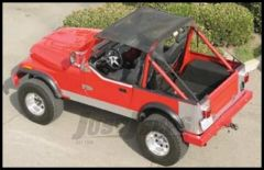 Warrior Products Breezer Top For 1976-91 Jeep Wrangler YJ and CJ 1110