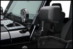 Warrior Products Mirror Relocation Brackets For 2007-14 Jeep Wrangler JK 2 Door & Unlimited 4 Door Models 1501