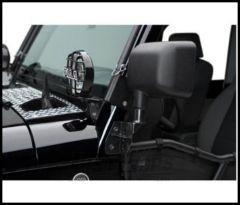 Warrior Products Diamond Plate Windshield Light Bracket For 1997-06 Jeep Wrangler TJ Models 1504PC